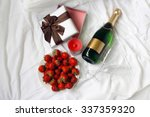 top view gift box strawberry... | Shutterstock . vector #337359320