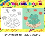 coloring book for kids. sketchy ... | Shutterstock .eps vector #337360349