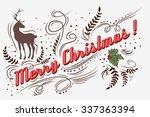 Merry Christmas . Hand Drawn...