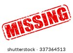 missing red stamp text on white | Shutterstock .eps vector #337364513