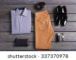 stylish set of clothes business ... | Shutterstock . vector #337370978