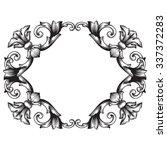 vintage baroque frame scroll... | Shutterstock .eps vector #337372283