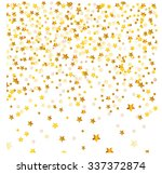 golden abstract stars on... | Shutterstock . vector #337372874