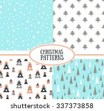 set of simple retro christmas... | Shutterstock .eps vector #337373858