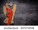 leather protective glove pipe... | Shutterstock . vector #337373948