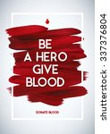 blood donor  motivation... | Shutterstock .eps vector #337376804