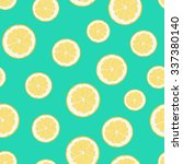 lemon vector illustration.... | Shutterstock .eps vector #337380140