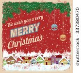 merry christmas poster with... | Shutterstock .eps vector #337380470