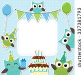 Vector Birthday Party Card With ...