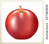 apple of red color  ripe juicy... | Shutterstock .eps vector #337383830