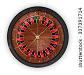 Постер, плакат: Roulette wheel Top view