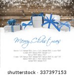photo of gifts with colorful... | Shutterstock . vector #337397153