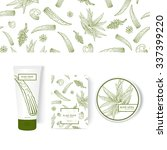 packing concept with aloe vera. ... | Shutterstock .eps vector #337399220