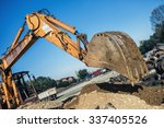 industrial bulldozer... | Shutterstock . vector #337405526