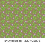Geranium pattern / Seamless vector background of floral elements.