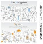 doodle line design of web... | Shutterstock .eps vector #337407284