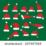 santa claus hats vector... | Shutterstock .eps vector #337407569