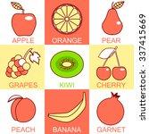 set of fruit. line icons set...   Shutterstock .eps vector #337415669
