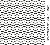 Pattern of black wavy line with white background | Shutterstock vector #337424504