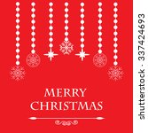 colorful greeting for merry... | Shutterstock . vector #337424693