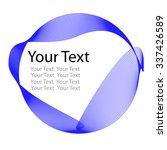 blue wave vertical lines   | Shutterstock .eps vector #337426589