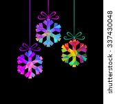 christmas decoration  ... | Shutterstock . vector #337430048