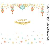 christmas holiday collection... | Shutterstock .eps vector #337436708