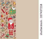 christmas greeting card... | Shutterstock .eps vector #337437218