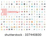 flat big collection set icons... | Shutterstock .eps vector #337440830