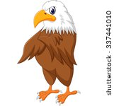eagle cartoon posing  | Shutterstock .eps vector #337441010