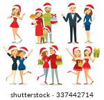 people and christmas season | Shutterstock .eps vector #337442714