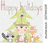 happy holiday. children's... | Shutterstock .eps vector #337444109