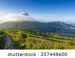 tourist hikers up cape town ... | Shutterstock . vector #337448600