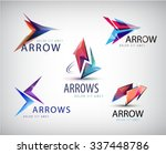 Vector Set Of 3d Colorful Arrow ...