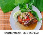 famous thai food  grilled... | Shutterstock . vector #337450160