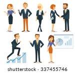 business vector people | Shutterstock .eps vector #337455746