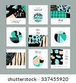 collection of artistic cards... | Shutterstock .eps vector #337455920