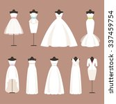 different styles of wedding... | Shutterstock . vector #337459754