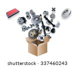 many spare parts flying out of... | Shutterstock . vector #337460243