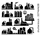 chemical plant factory vector... | Shutterstock .eps vector #337464638