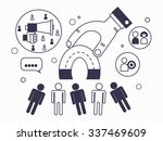 the attraction of the target... | Shutterstock .eps vector #337469609