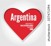 i love argentina vector eps 10... | Shutterstock .eps vector #337471394