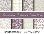 classic collection of seamless... | Shutterstock .eps vector #337473590