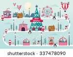christmas winter wonderland... | Shutterstock .eps vector #337478090