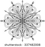hand drawn background. mandala. ... | Shutterstock .eps vector #337482008