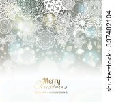 snowflake background. vector... | Shutterstock .eps vector #337482104