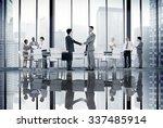 business people board room... | Shutterstock . vector #337485914