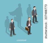 leadership isometric flat... | Shutterstock .eps vector #337488773