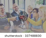 share connection technology... | Shutterstock . vector #337488830
