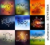 halloween timeline... | Shutterstock .eps vector #337493864